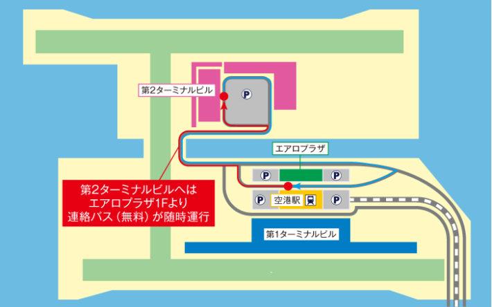 関西国際空港のマップ