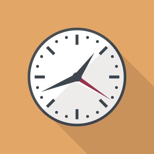 アナログ時計で時間のイメージ写真