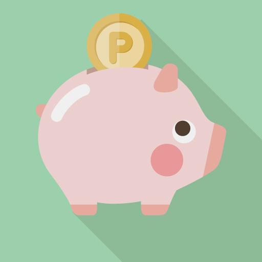 ブタの貯金箱で節約のイメージ