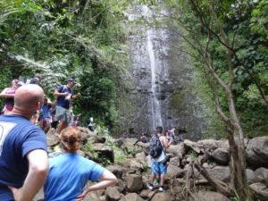 オアフ島のマノアの滝