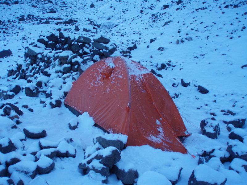 プラサ・デ・ムーラに降った大雪