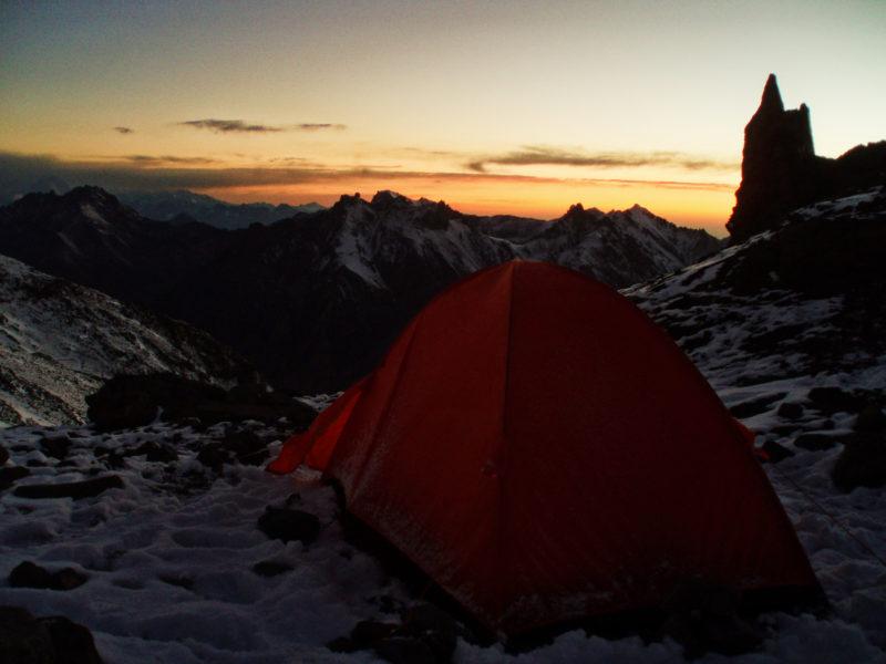 キャンプ・カナダから見るサンセット
