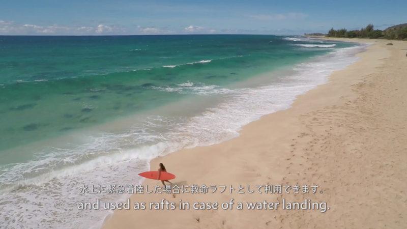 ハワイアン航空の機内安全ビデオイメージ8