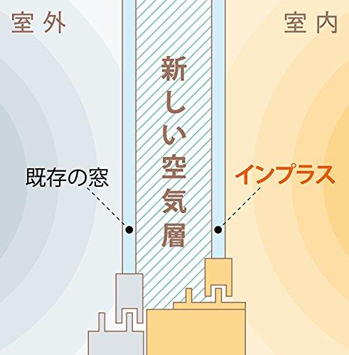 窓に空気の層を作る