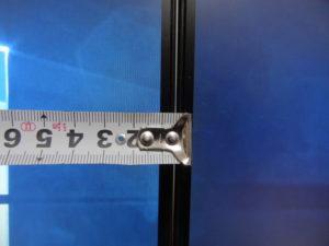 フレームレスの幅11mm
