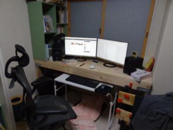 机をDIY後の第一段階