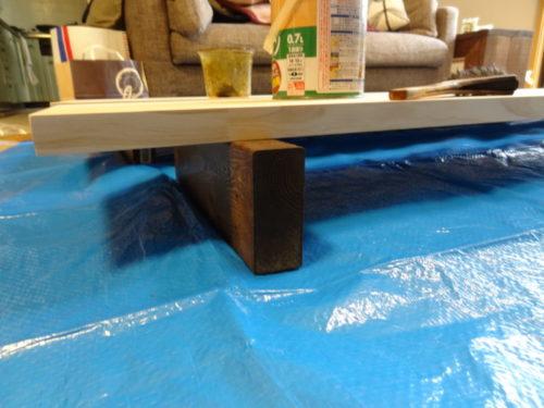 机の天板塗装準備2