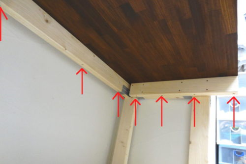 天板の固定方法