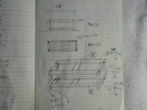 物置棚の設計図