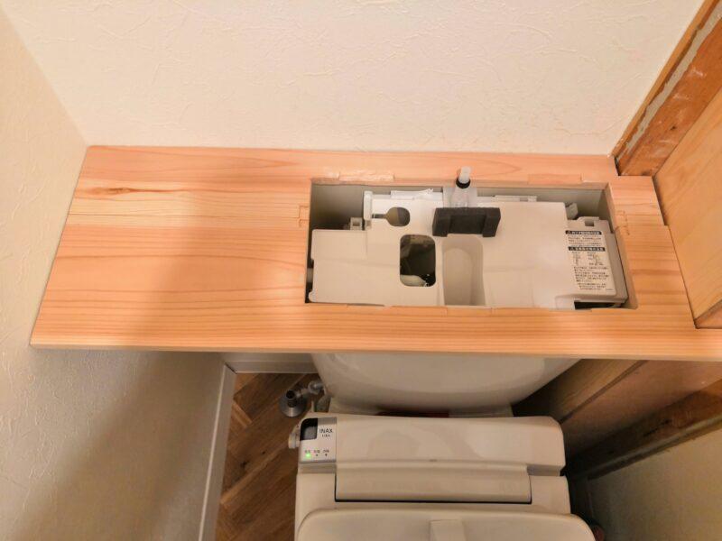 天板の木材カット後